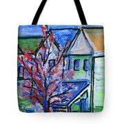 Redbud Tree At West Cape May Tote Bag