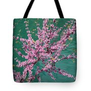 Redbuds Over San Antonio River Tote Bag