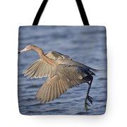 Reddish Egret Dance Fishing Tote Bag
