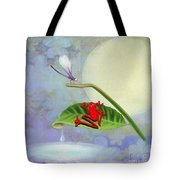 Redfrog And The Dragonfly Tote Bag