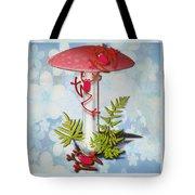Redfrog And The Magic Mushroom Tote Bag