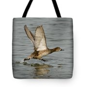 Redhead Taking Off Tote Bag