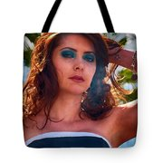 Redhead With A Star Tattoo  Tote Bag