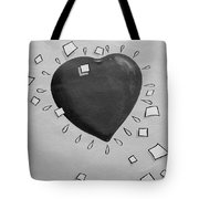 Redheart In Black And White2 Tote Bag