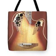 Redish-brown Guitar On Redish-brown Background Tote Bag by Richard J Thompson