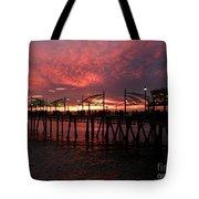 Redondo Beach Pier At Sunset Tote Bag