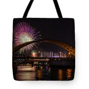 Reds Friday Night Fireworks Tote Bag