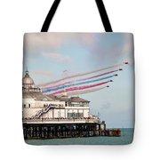 Reds Over Eastbourne Pier Tote Bag