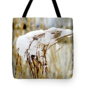 Reed With Snow Tote Bag