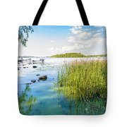 Reeds And Dnieper River Tote Bag