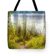 Reeds And Plants Close To The Shore Tote Bag