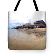 Reeds Beach Panorama - New Jersey Tote Bag