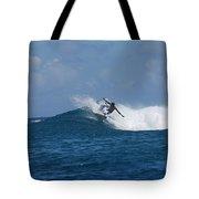 Reef Surfer Moorea Panorama Tote Bag