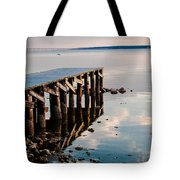 Reflected Pier Tote Bag