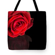 Reflected Red Rose Tote Bag