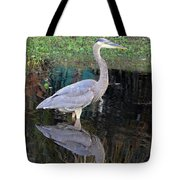 Reflecting Great Blue Heron Tote Bag