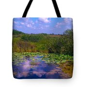 Reflecting In The Glades Tote Bag