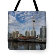 Reflecting On Toronto And Harbourfront  Tote Bag