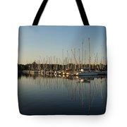 Reflecting On Yachts And Sailboats Tote Bag