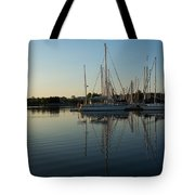 Reflecting On Yachts - Hot Summer Afternoon Mirror Tote Bag