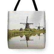 Reflecting Windmills Tote Bag
