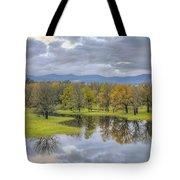 Reflection At Columbia River Gorge Tote Bag