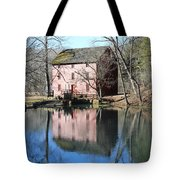 Reflection At The Mill Tote Bag
