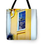 Reflection Between The Columns Tote Bag