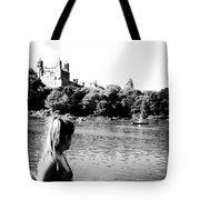 Reflection In Black And White Tote Bag