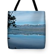 Reflection In Lake Mcdonald In Glacier National Park-montana Tote Bag