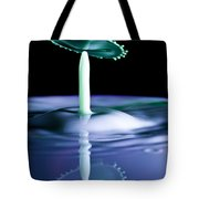Reflection Of A Milk Drop Collision Tote Bag