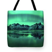 Reflection Of Aurora Borealis Tote Bag