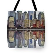 Reflection Of Downtown Nyc Tote Bag