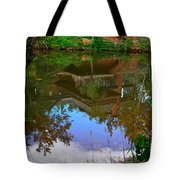 Reflection Of House On Water Tote Bag