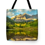 Reflection Of Maroon Bells Tote Bag