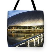 Reflection Of The Glasgow Science Tote Bag