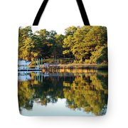 Reflection Of Trees Tote Bag
