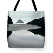 Reflection On Bixby Beach Big Sur California By Pat Hathaway Tote Bag