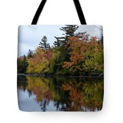 Reflection On The Raquette River Tote Bag