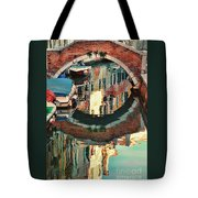 Reflection-venice Italy Tote Bag