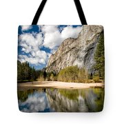 Reflections At Swinging Bridge Tote Bag