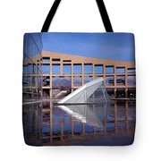 Reflections At The Library Tote Bag