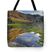 Reflections At The Mountain Lake Tote Bag