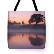 Reflections In A Lake At Dawn / Maynooth Tote Bag by Barry O Carroll