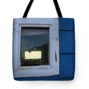 Reflections In A Shed Window - Curiosity - Fishing Tote Bag