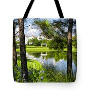 Reflections In A Tranquil Pond Tote Bag