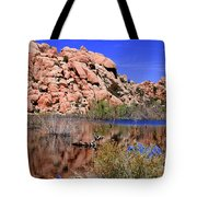 Reflections In Barker Dam By Diana Sainz Tote Bag