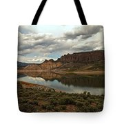 Reflections In Blue Mesa Tote Bag