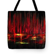 Reflections In Red Tote Bag