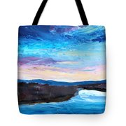 Reflections In River Jordan Israel Tote Bag